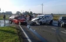 Trei maşini lovite din cauza neacordării de prioritate