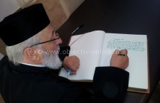 Înalt Prea Sfințitul Calinic, Arhiepiscopul Argeșului și Muscelului, a semnat în Cartea de onoare a municipiului Călărași