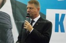 Klaus Iohannis, prezent la Călărași imediat după depunerea candidaturii la BEC