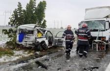 Grav accident de circulaţie produs pe DN4, la km 31