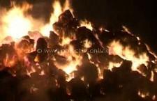 Jegălia/300 de baloţi de nutreţ, arşi din cauza copiilor care s-au jucat cu chibriturile