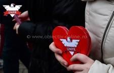 """Tinerii din UNPR Călărași au """"aprins"""" flacăra iubirii de Dragobete"""