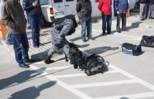"""Exerciţiu canin, în cadrul proiectului """"Împreună în lupta împotriva contrabandei cu ţigarete şi tutun"""""""
