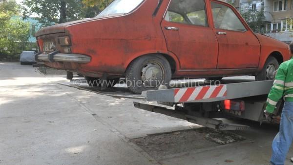 Câte mașini abandonate au fost ridicate de Primăria Călărași, în 2014