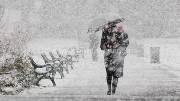 ANM/Avertizare meteo de vânt, lapoviţă şi ninsoare
