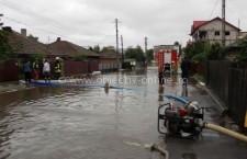 Intervenţii la inundaţii în municipiul Oltenița și orașul Budești