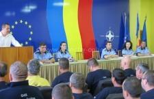 Întâlnire, la sediul IPJ Călărași, între  poliţişti şi agenţii de pază