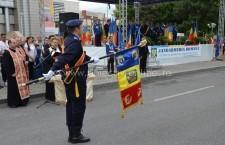 Paradă militară de excepție/Jandarmeria Călărași a primit Drapelul de Luptă/FOTO