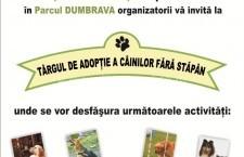 Vino la Târgul pentru Adopție a Câinilor fără Stăpân/Sâmbătă, 25 iulie, ora 10, Parcul Dumbrava