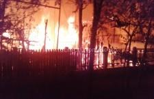 Incendiu de proporții la un depozit de plante furajere situat în comuna Modelu