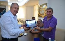 Diplomă de excelență și Cheia Orașului Călărași pentru cel mai iubit fotbalist, Gică Hagi