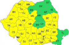 Atenționare meteo/Cod galben pentru Călărași