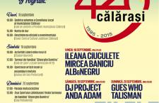 18-20 septembrie 2015 – Zilele Municipiului Călăraşi/Vezi care este programul manifestărilor