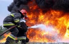 Intervenţie la incendiu de locuinţă în municipiul Călăraşi, pe strada Mureşului