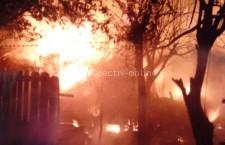 Intervenţie la incendiu de locuinţă în localitatea Chirnogi