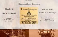 Exponatul lunii la Muzeul Dunării de Jos/ Macheta vasului amiral al flotei engleze – HMS Victory