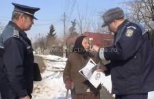 Acţiune, desfăşurată de poliţişti, în vederea consolidarea gradului de siguranţă pentru cetăţenii din mediul rural