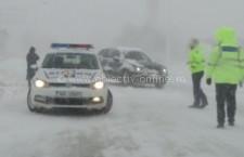 Călărași/Poliţiştii, la datorie pentru limitarea efectelor fenomenelor meteo de ninsoare şi viscol