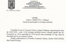 Primăria Unirea/Anunț licitație