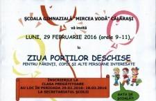 Ziua porților deschise la Școala Mircea Vodă