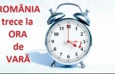 România trece la ora de vară/Ora 03.00 va deveni ora 04.00