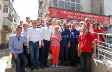 Codrin Ștefănescu și Ionela Prodan, alături de candidatul PSD la Primărie, Marius Dulce