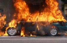 Intervenţie la incendiu de autoturism pe A2, în localitatea Dor Mărunt