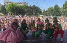 Sute de copii călărășeni prezenți la spectacolul organizat de ziua lor