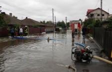 11 gospodării din Oltenița au fost afectate de inundații