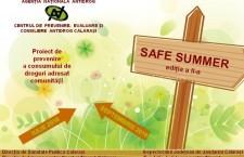 """Călărași/Proiectul de prevenire a consumului de droguri """"Safe Summer"""", la a doua ediție"""