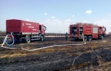 Incendiu de miriște și vegetație uscată în satul Clătești