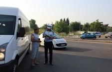 Acţiuni ale polițiștilor pentru siguranța transportului public de persoane/600 de autovehicule verificate
