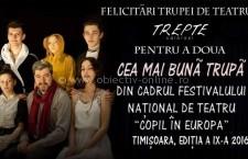 """Trupa """"Trepte"""" a participat la Festivalul Naţional de Teatru pentru Copii şi Tineret """"Copil în Europa""""/Vezi ce premii a câștigat"""