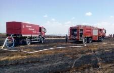 Pompierii călărășeni au lucrat la foc continuu la sfârșit de săptămână/100 de intervenții în trei zile