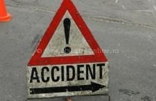 A condus fără permis, sub influenţa alcoolului şi s-a răsturnat cu autovehiculul