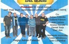 """Invitație la teatru/Spectacolul de teatru """"REȚETA DE RÂS"""" se joacă astăzi la Călărași"""