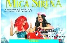 """Copiii sunt așteptați vineri, 21 octombrie, la spectacolul de teatru """"Mica Sirenă"""""""
