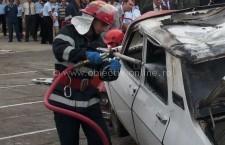 Pompierii au intervenit la două incendii de autoturisme, unul la Oltenița și celălalt la Lehliu Gară