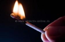 Un copil de șapte ani a provocat un incendiu de proporții la Gruiu