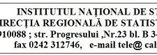 ANUNŢ ANGAJARE / DIRECŢIA REGIONALĂ DE STATISTICĂ CĂLĂRAŞI