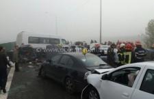 Accident A 2/Au fost chemați de acasă medici și asistente la Spitalul Județean de Urgență Călărași pentru victimele accidentului de pe autostradă
