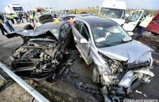 Peste 100 de salvatori au intervenit la accidentul produs sâmbătă pe Autostrada Soarelui