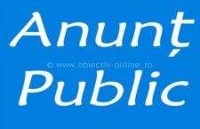 Anunţ public privind decizia etapei de încadrare (titularul proiectului)
