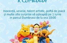 Primăria Călărași organizează joi, 1 iunie, cu ocazia Zilei Internaționale a Copilului, acțiuni pentru copii, în Parcul Dumbrava, începând cu ora 10.00