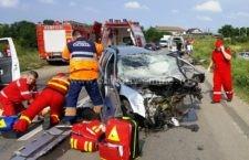Grav accident rutier cu 4 victime în localitatea Gruiu, pe DN 4, km 36 + 400/FOTO