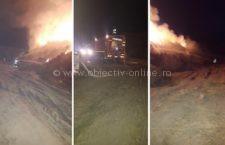 Pompierii călărășeni se luptă cu focul de peste 17 ore