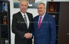 Ambasadorul SUA în România, Hans Klemm, s-a întâlnit cu primarul Daniel Drăgulin, la Călărași
