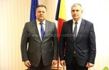 Președintele CJ Călărași, Vasile Iliuță, întâlnire cu guvernatorul Silistrei la Călărași