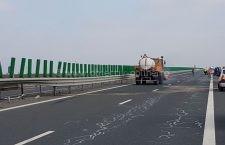 Tronsonul Drajna – București, al autostrăzii A2, este închis