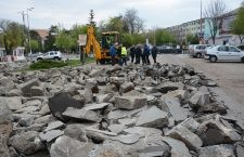 Primăria Călărași | Modernizarea bulevardului Titulescu a presupus îndepărtarea betonului existent deoarece carosabilul va fi reconfigurat